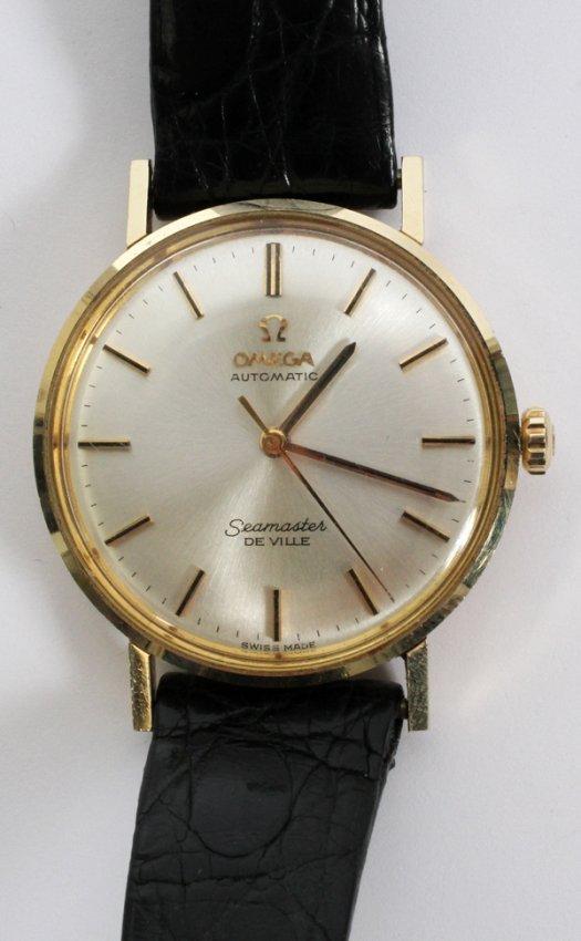 omega seamaster 14kt gold s wrist lot 122169