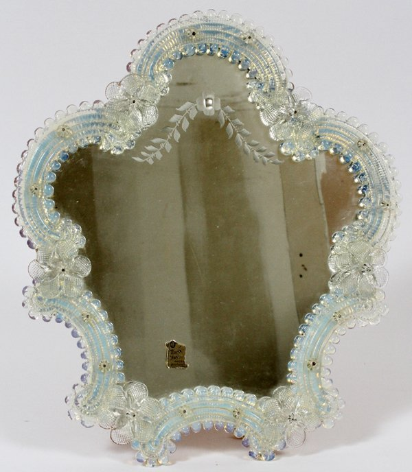 VENETIAN GLASS VANITY MIRROR : Lot 11358