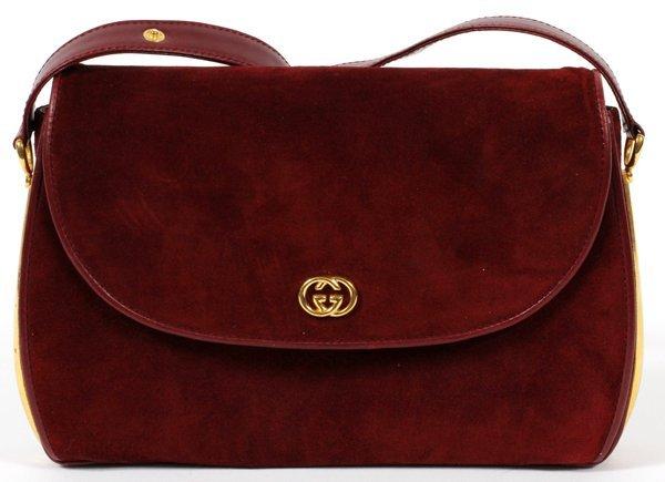 Burgundy Suede Shoulder Bag 97