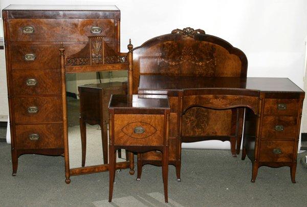 110017 berkey gay walnut satinwood bedroom suite lot 110017