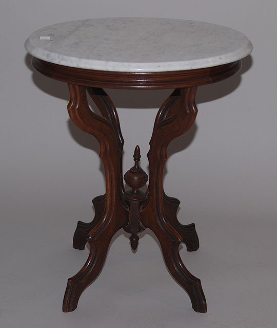 Antique Marble Side Table Reading