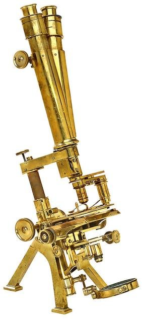 267: binokular-mikroskop powell &; lealand, 1859