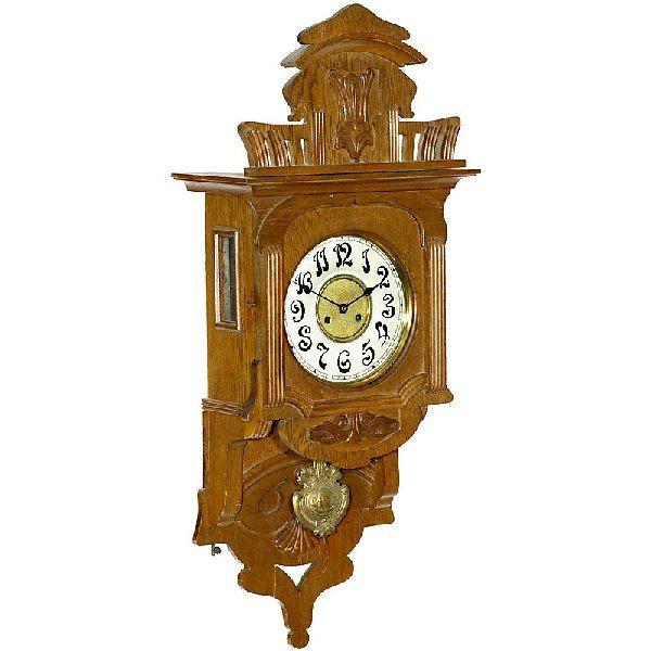 Wall Clock Art Nouveau : Art nouveau wall clock quot junghans c lot