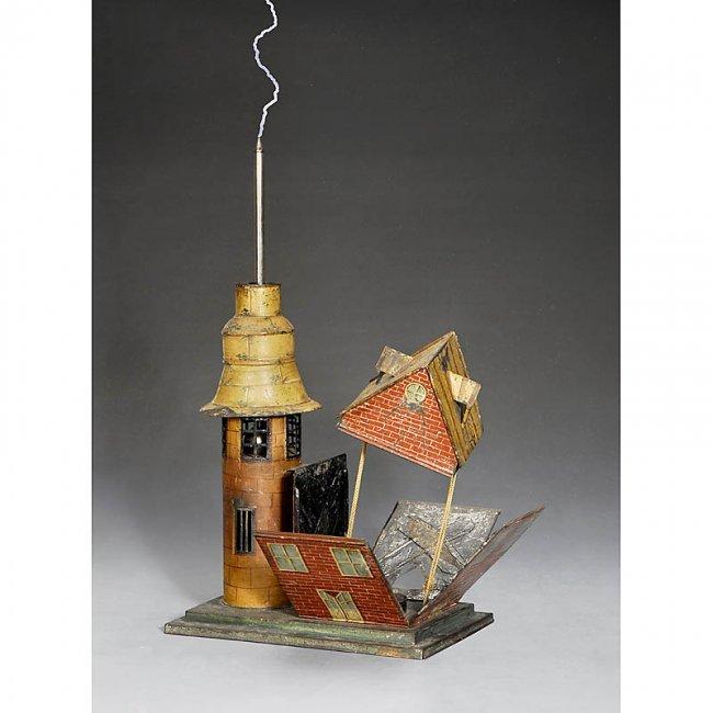 135 benjamin franklin 39 s lightning rod house by charles. Black Bedroom Furniture Sets. Home Design Ideas