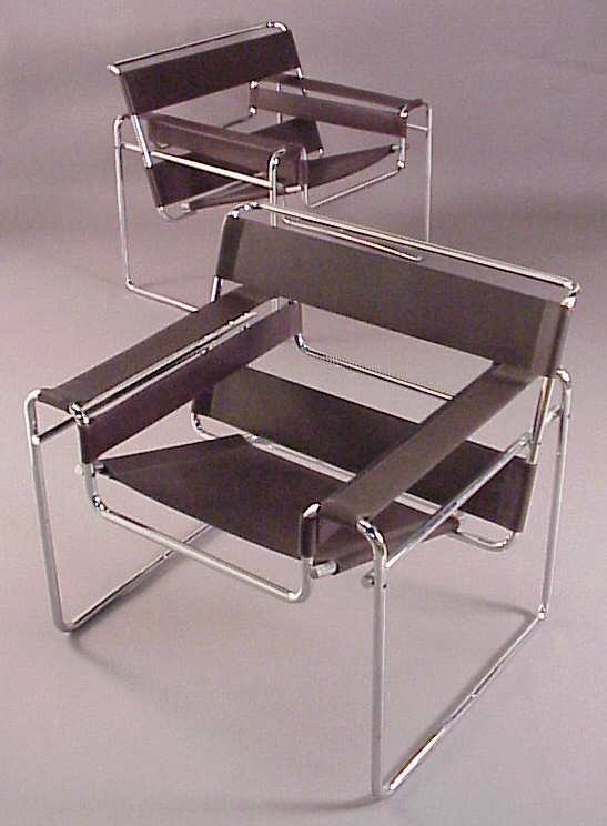 3210 marcel breuer gavina pair of wassily chairs lot 3210. Black Bedroom Furniture Sets. Home Design Ideas