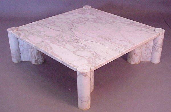 3225 gae aulenti knoll jumbo coffee table carrara lot 3225. Black Bedroom Furniture Sets. Home Design Ideas