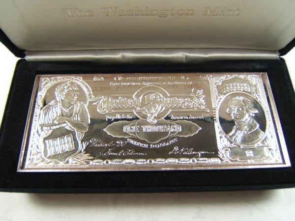 Washington Mint 1lb Silver Bullion Bar 999 16 Oz Lot 73