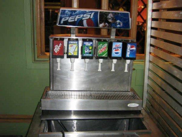pepsi commercial soda machine
