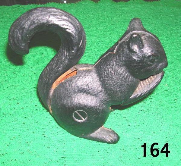 50164 antique nut cracker cast iron black squirrel lot 50164 - Cast iron squirrel door stop ...