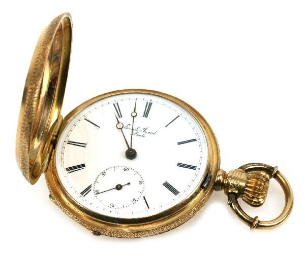 antique gold pocket emile jacot locle lot 31407