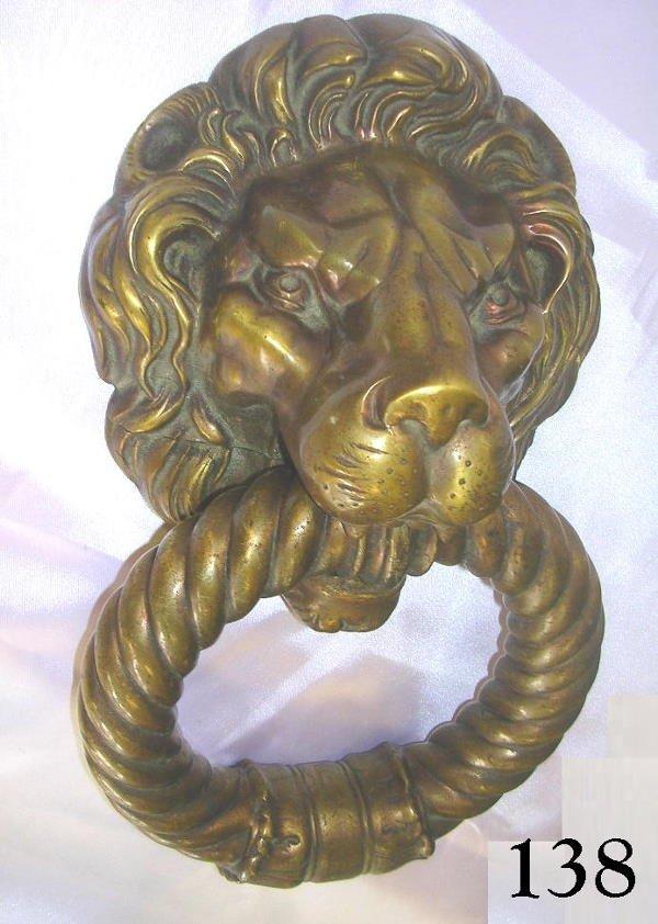 70138 vintage brass lion head door knocker huge lot 70138 - Brass lion head door knocker ...