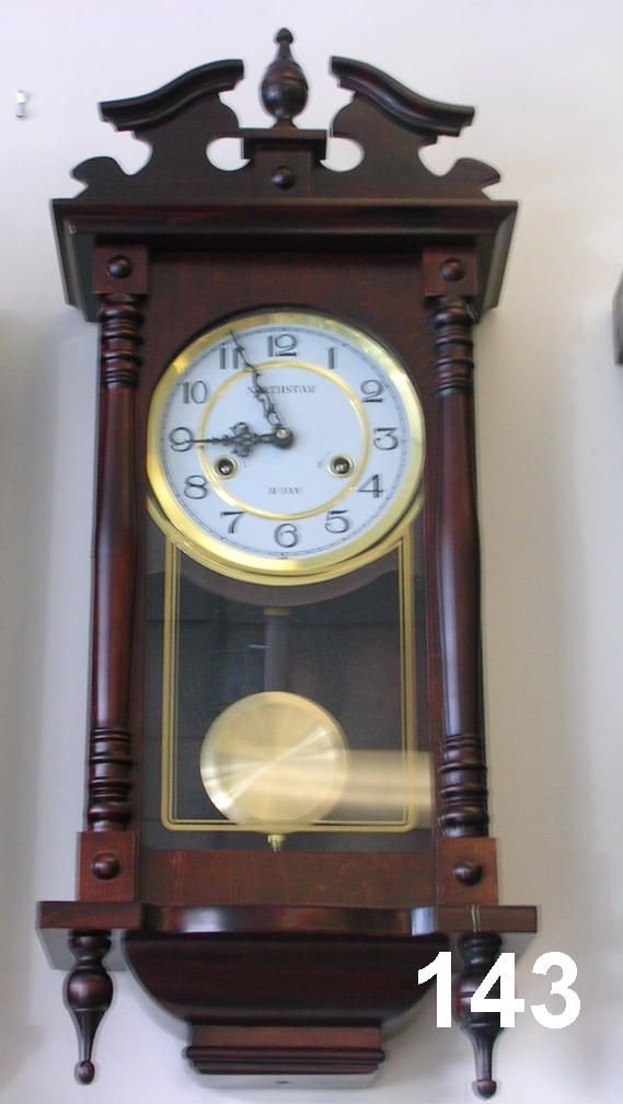 70143 northstar 31 day pendulum wall clock lot 70143