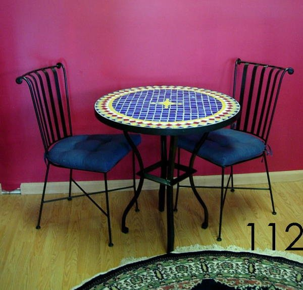 112 PIER 1 BISTRO TABLE 2 CHAIRS BEAUTIFUL BLACK WRO