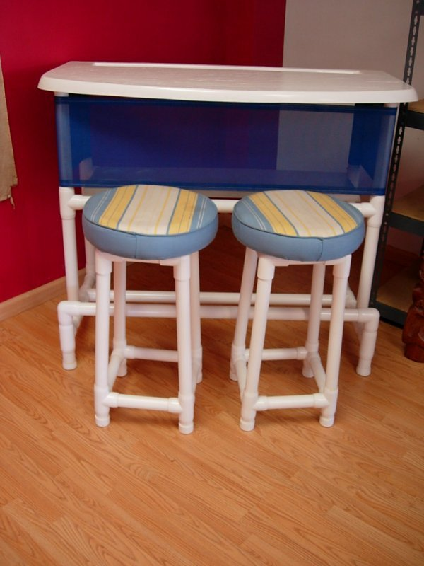 90252 Modern Patio Pvc Pipe Bar Amp Bar Stool 2 Formica