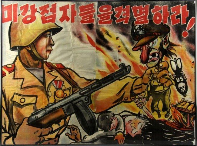 Korean War us Propaganda Dprk Korean War Anti-american