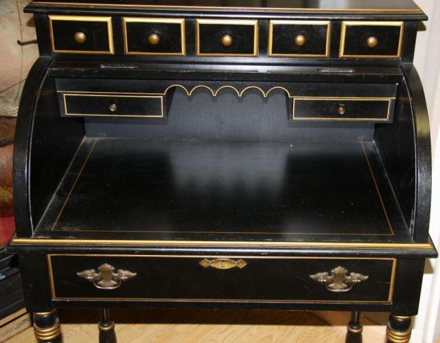 Turned Leg Roll Top Desk By Jasper Cabinet Lot 6356 Jasper Cabinet Roll Top  Desk