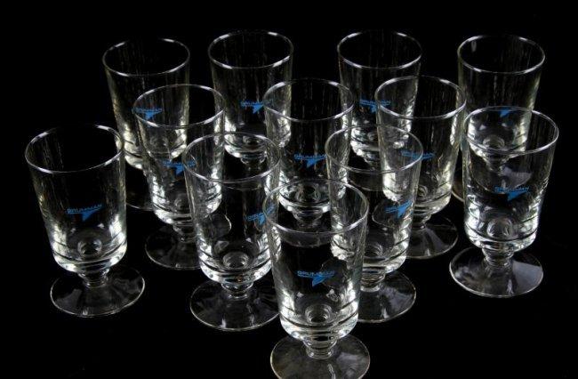 12 Grumman Footed Highball Glasses Lot 9012