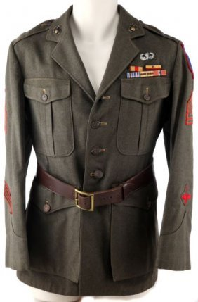 Wwii Usmc Para Marine Green Wool Uniform Tunic Lot 2096