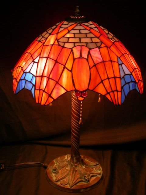 84 Flying Bats Tiffany Style Halloween Lamp Glass Lot 84