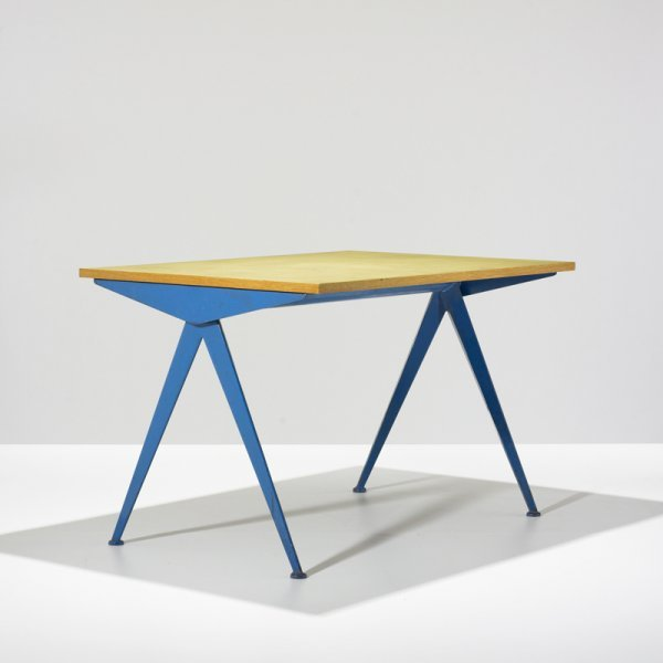 400 Jean Prouve Compass Dining Table Model 512