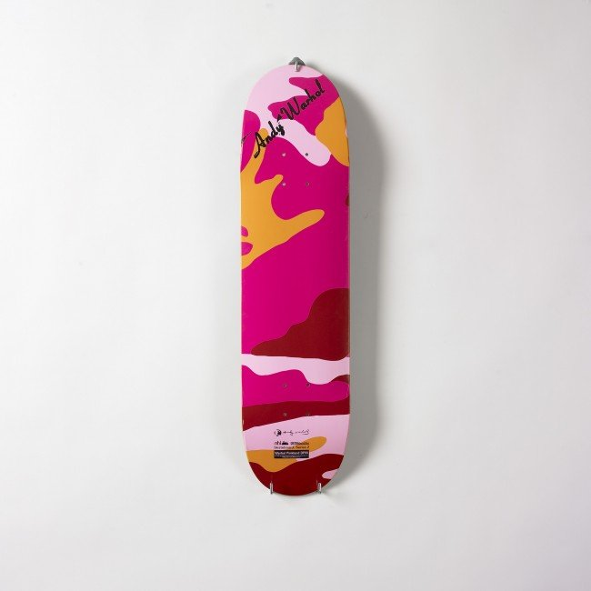 536 Andy Warhol Pinkland Camoufage Skateboard Deck Lot 536