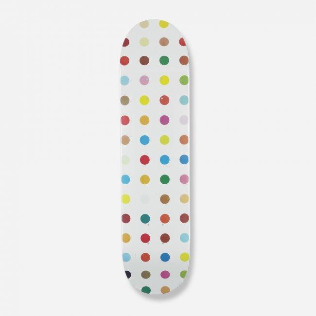 307 Damien Hirst Dot 3 Skateboard Deck Lot 307