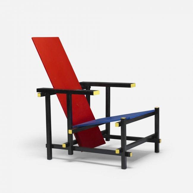 493 Gerrit Rietveld Red Blue Chair Lot 493