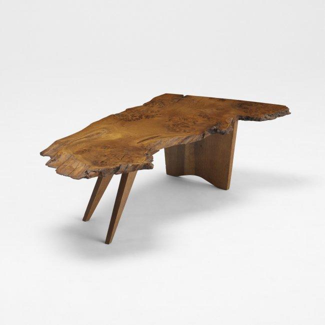 166 George Nakashima Slab Coffee Table Lot 166