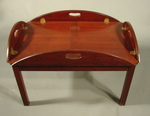 11280 Hitchcock Signed Drop Leaf Oval Coffee Table Lot 11280
