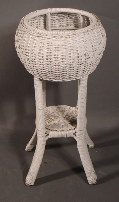 Antique Wicker Plant Stand Furniture Table Styles