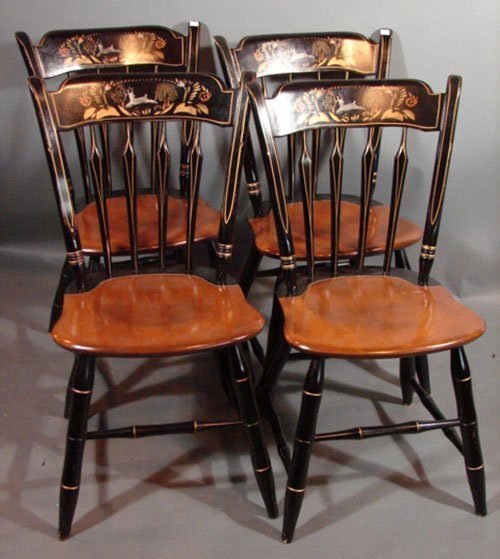 3225 Ethan Allen Thumb Back Windsor style Dining Chair