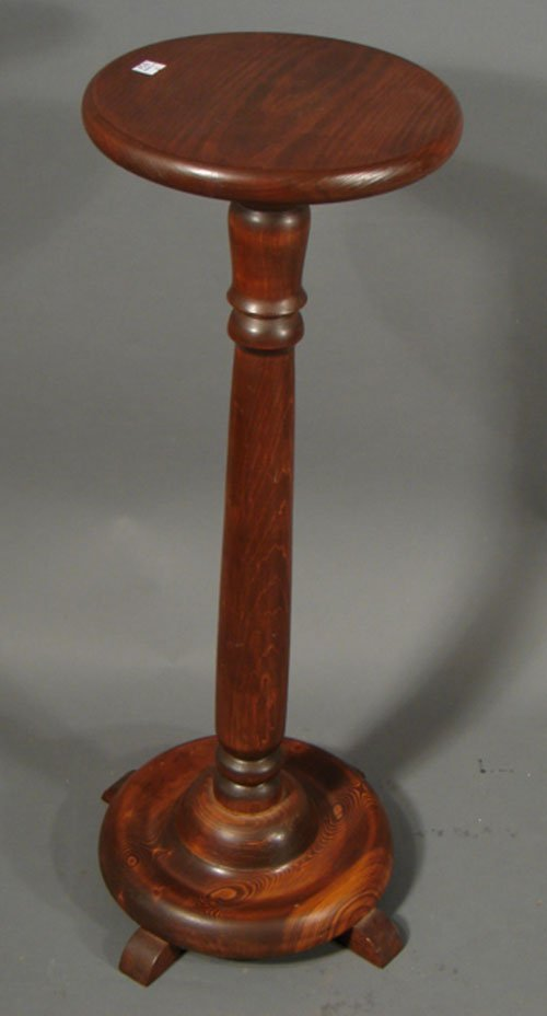 Vintage wooden pedestal plant stand quot tall
