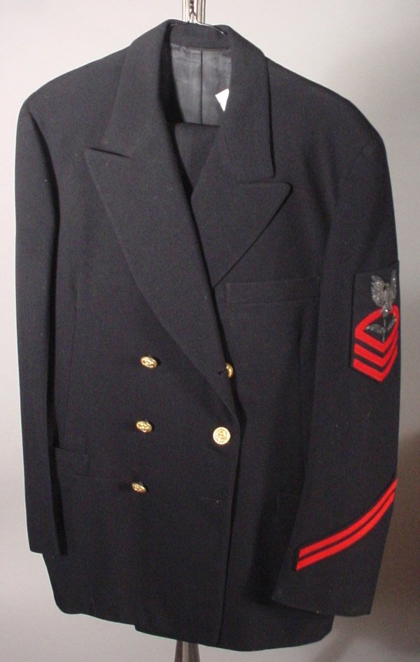 3250: U.S. Navy WWII Chief Petty Officer Uniform.