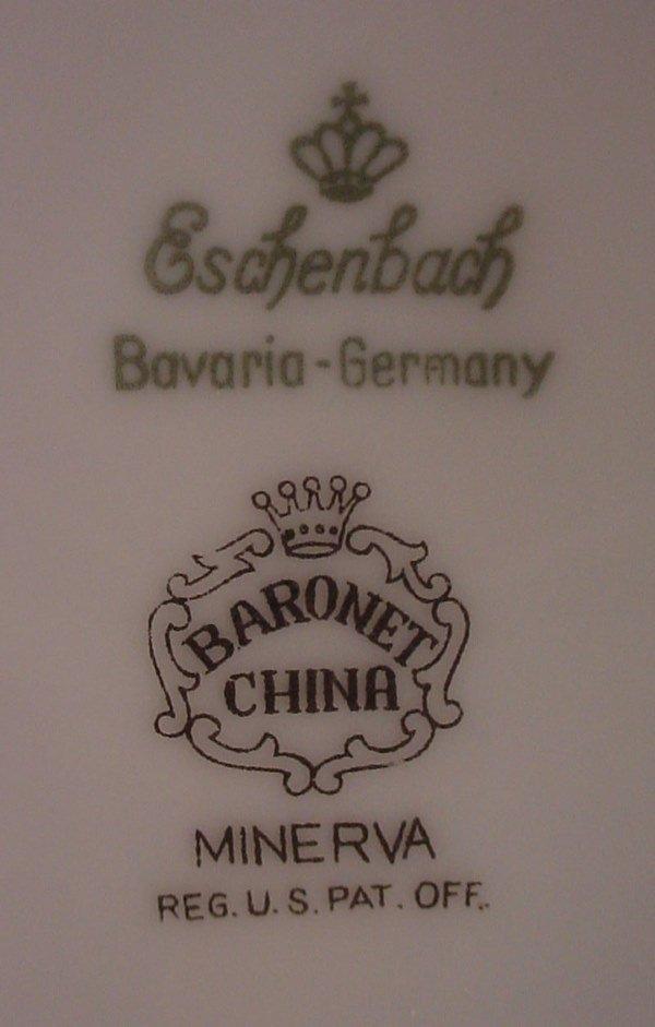 195 eschenbach bavaria germany signed fine porcelain lot 195. Black Bedroom Furniture Sets. Home Design Ideas