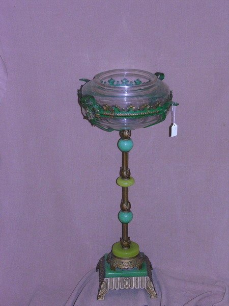 30 deco fish bowl and stand circa 1920 lot 30