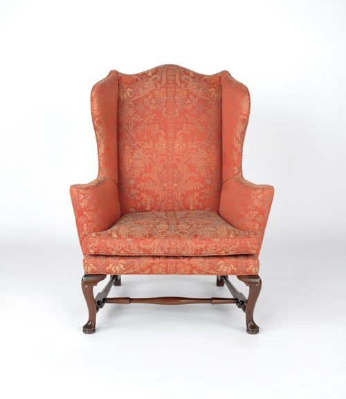749 Kittinger Queen Anne mahogany wing chair Lot 749