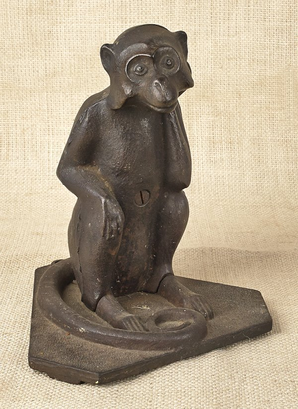 hubley cast iron monkey bank