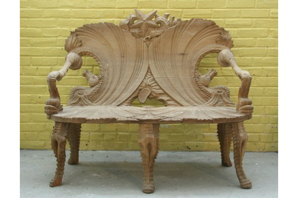 best wood carving bench carved bench