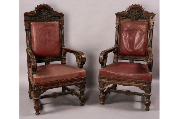 Pr victorian gothic style arm chair daniel pabst