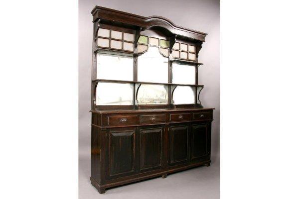 775 antique carved walnut mirror bar back lot 775. Black Bedroom Furniture Sets. Home Design Ideas