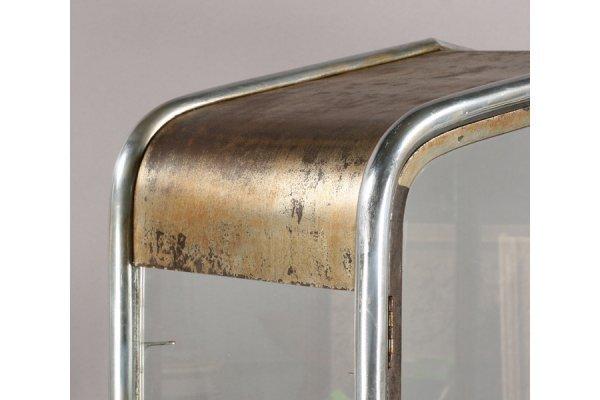 art deco style metal vitrine