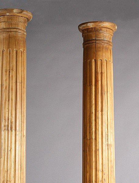 40 Pr Carved Wood Architectural Fluted Columns Lot 40