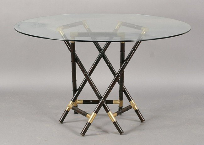 Dining table round bamboo dining table