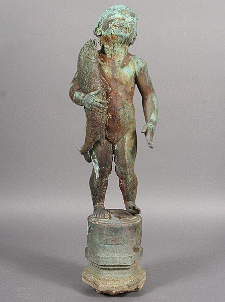 107 Edith Baretto Parsons Signed Fountain Figure Lot 107