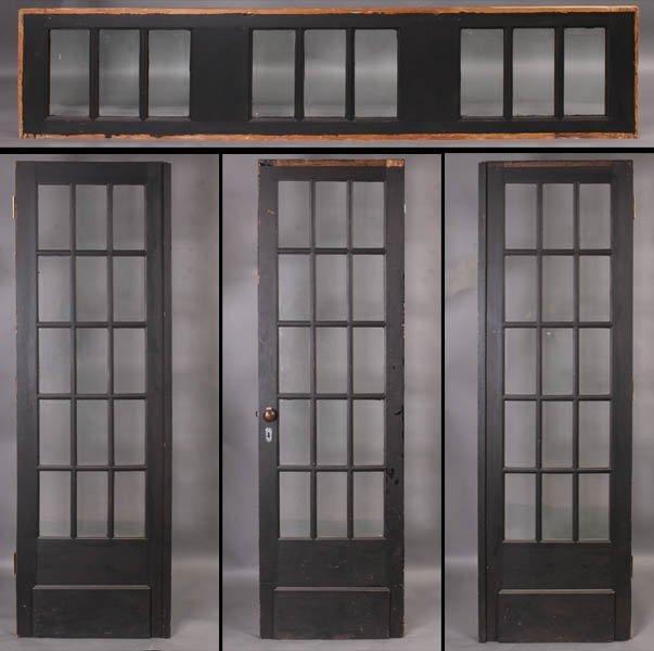 715 Glass Entry Way 15 Beveled Glass Panels Lot 715