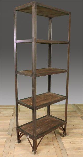 123 metal wood industrial shelf 5 shelves lot 123. Black Bedroom Furniture Sets. Home Design Ideas