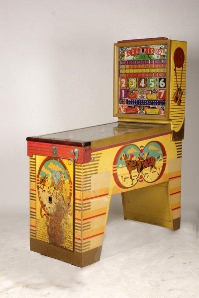 Vintage Bally Pinball Machine Horse Racing Theme Lot 384