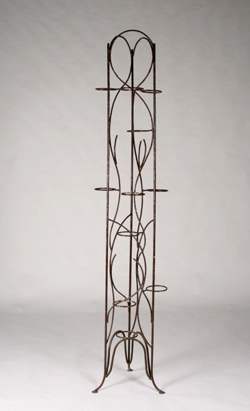a tall painted metal plant stand or wire rack lot 624. Black Bedroom Furniture Sets. Home Design Ideas
