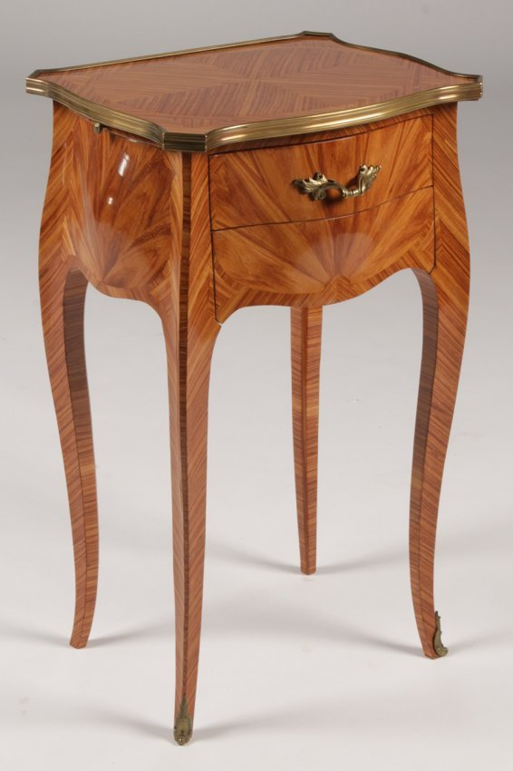 Regency style end table bronze trimmed lot 229 for Table 52 oak brook