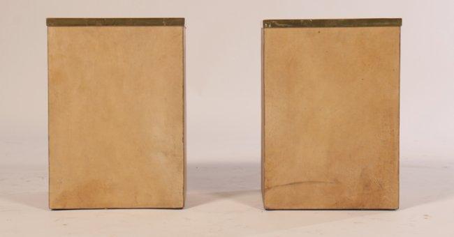 Pr Parchment Covered Wastebaskets Jean M Frank Lot 49